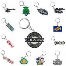 ส่วนบุคคลการปรับแต่งPVC Keyของคุณเองออกแบบโลโก้ออกแบบที่กำหนดเองพวงกุญแจสำหรับขายส่ง