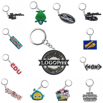 Personalized Customization PVC Key chains Your Own Design Logo Custom Design Key Ring Keychain for Wholesale image