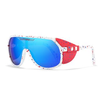 Pit Viper Grand-Prix UV400 okulary przeciwsłoneczne męskie sportowe zdejmowane okulary przeciwsłoneczne Unisex wyposażone w soczewki ANSI Z87 + UV400 tanie i dobre opinie CN (pochodzenie) SHIELD Dla osób dorosłych Z plastiku i tytanu Przeciwodblaskowe 62mm PV03 151mm Sunglasses Hard Case Recycled Box Cleaning Cloth Test Card Pouch