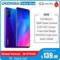 DOOGEE N30 мобильный телефон Full Netcom 4500 мАч 4 Гб ОЗУ 128 Гб ПЗУ 6,55 дюймов перфорированный экран четырехъядерный процессор Android 10 OS