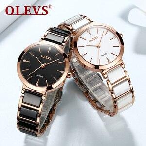 Image 3 - OLEVS Top Brand Luxury Quartz Women Watches Withe WristWatch Life Waterproof Clock Gift Watch For Womens Ladies Relogio Feminino