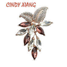 CINDY XIANG Big Crystal Flower Large Brooch Grape Pins and Brooches Wedding Jewelry Bijouterie Corsage Dress Coat Accessories(China)