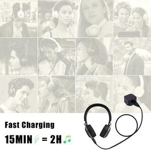 Image 5 - USB кабель для зарядки наушников 2,5 мм, черный, 3 фута, 100 см