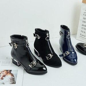 Image 5 - MORAZORA 2020 nuovi stivali di arrivo caviglia per le donne fibbia zip punta rotonda stivali autunno inverno ufficio vestito da modo scarpe femminili