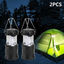2x30 LED Draagbare Camping Torch Battery Operated Lantaarn Nachtlampje Tent Lamp Camper Auto Accesseries(China)