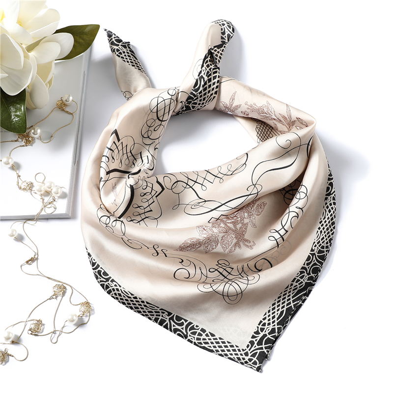 Simple Style Silk Scarf Women Spring Summer 2020 New Neckerchief 70cm Square Hijab Scarvesbufandas Invierno Mujer Top Quality