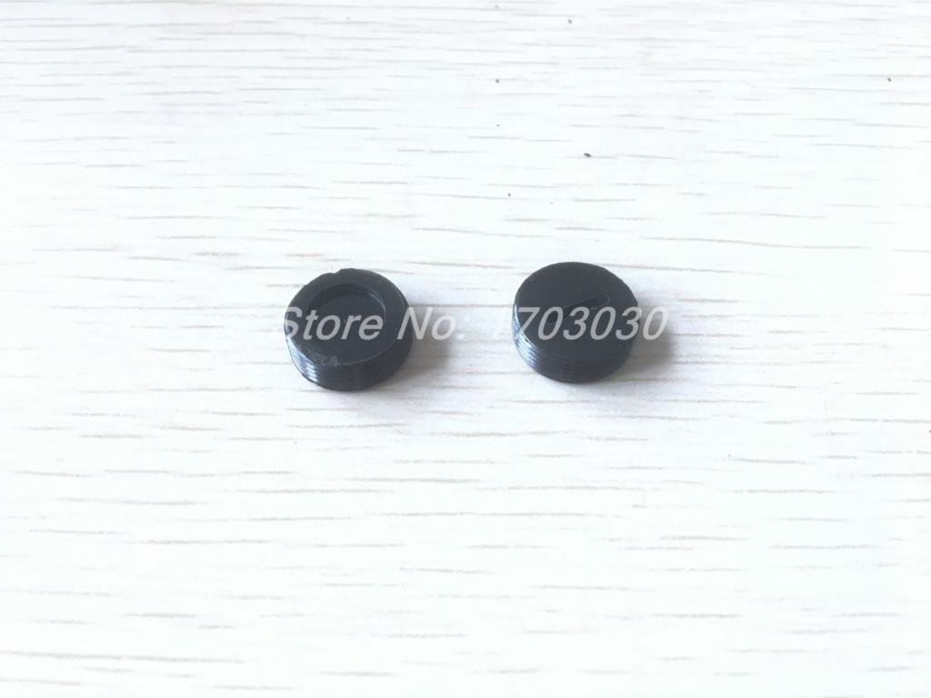 40 Pcs 16mm Dia Thread Black Plastic Motor Carbon Brush Holder Cap Cover