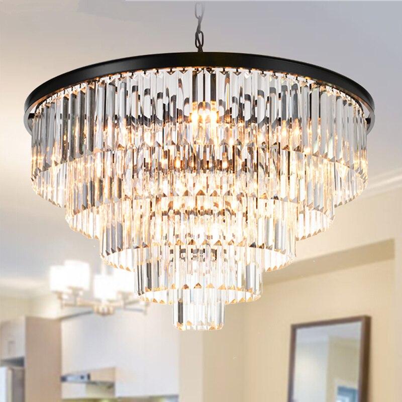 Современные хрустальные люстры Luminaria, черная круглая квадратная роскошная люстра для вестибюля отеля, люстра для гостиной и спальни