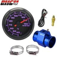 Dragon gauge 52mm de alta velocidade do motor passo 7 cores retroiluminação medidor temperatura do carro temp água medidor celsius frete grátis Medidores de temperatura da água     -