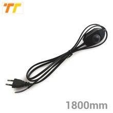 1.8m preto branco ue eua plug pode ser escurecido cabo interruptor luz modulador lâmpada linha controlador dimmer lâmpada de mesa fio alimentação ac110v 220v