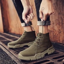 New Arrivals Ankle Boots High Top Quality Leather Western Men Upgrade Motorcycle Non-slipboots Wear Comfort Winter Shoes Size 46
