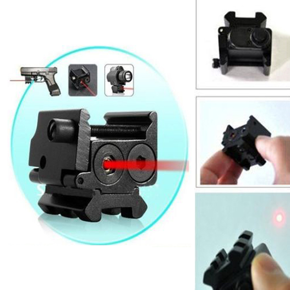 Hot High Quality Adjustable Red Laser Sight with 20mm Rail Mount Fit for Glock 17 19 Pistol Guns Glock Hunting Accessory-3