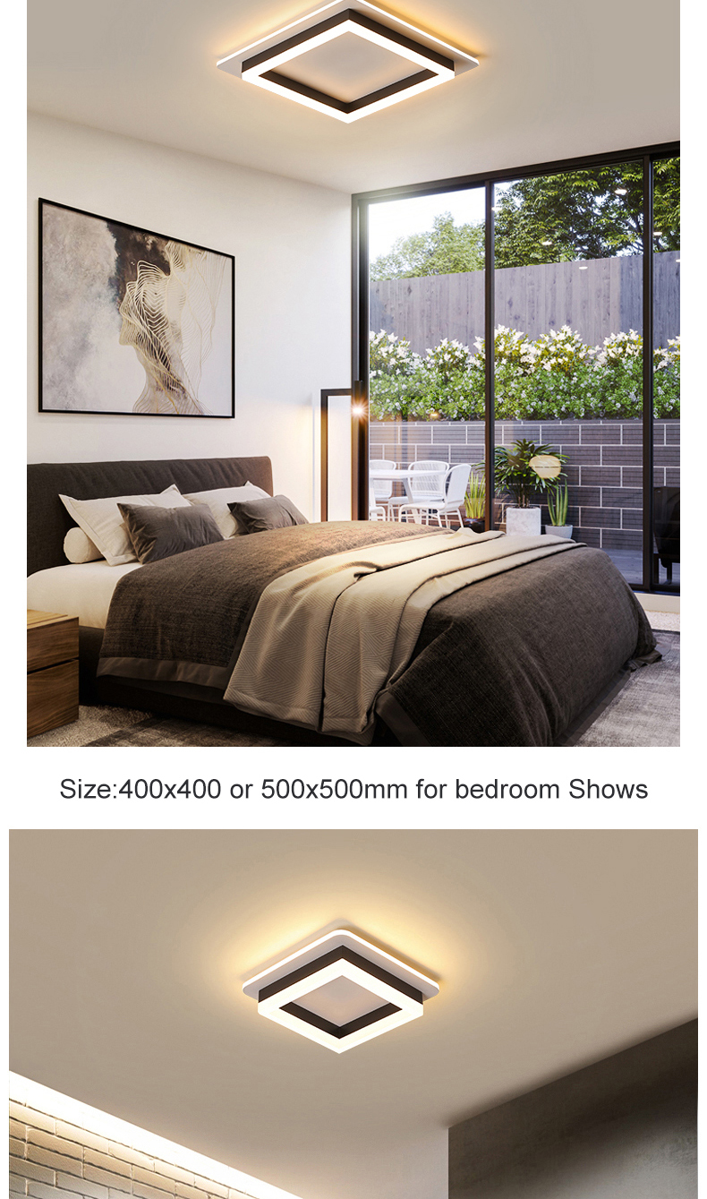 H909e18df552948a0ad3271b41fc72da8w Modern Led Ceiling Lights For Hallway Porch Balcony Bedroom Living Room Surface Mounted Square/Round LED Ceiling Lamp