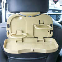 Soporte plegable para taza de coche, organizador para asiento trasero de coche, mesa para bebidas, bandeja sujetavasos, escritorio, 1 Uds.