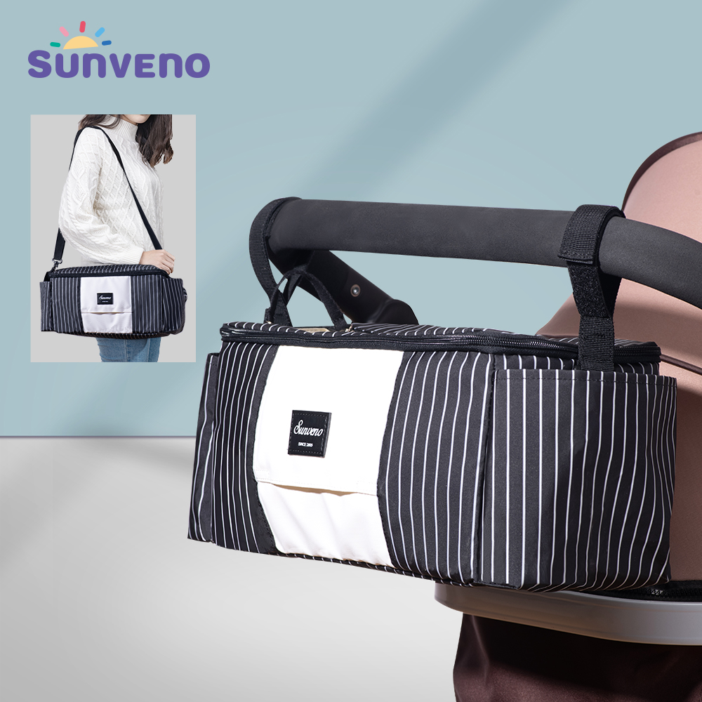 Sunveno Universal Stroller Organizer With Insulated Cup Holder,Fits For Stroller Like,Baby Jogger,Britax,-Diaper Baby Bag