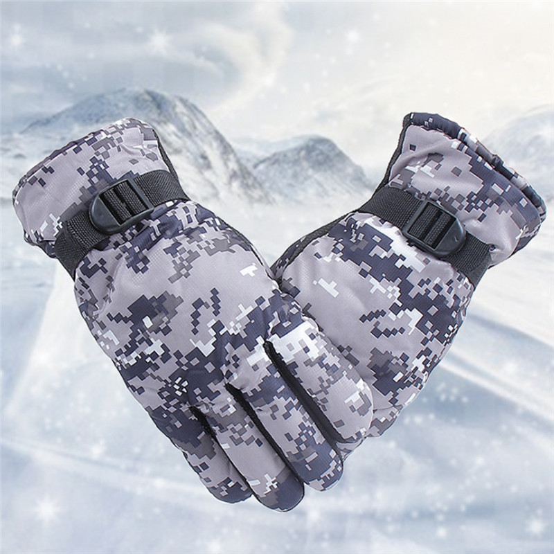 Random Color Winter Full Finger Thermal Gloves Practical Durable Men Women Windproof Ourdoor Sports Cycling Ski Snowboard Gloves