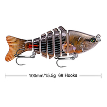 1pcs New Arrival ABS Plastic Hard Fishing Painted Lures 10cm 15.5g Artificial Lure Swimbait 7 Segment Multi Jointed Bait