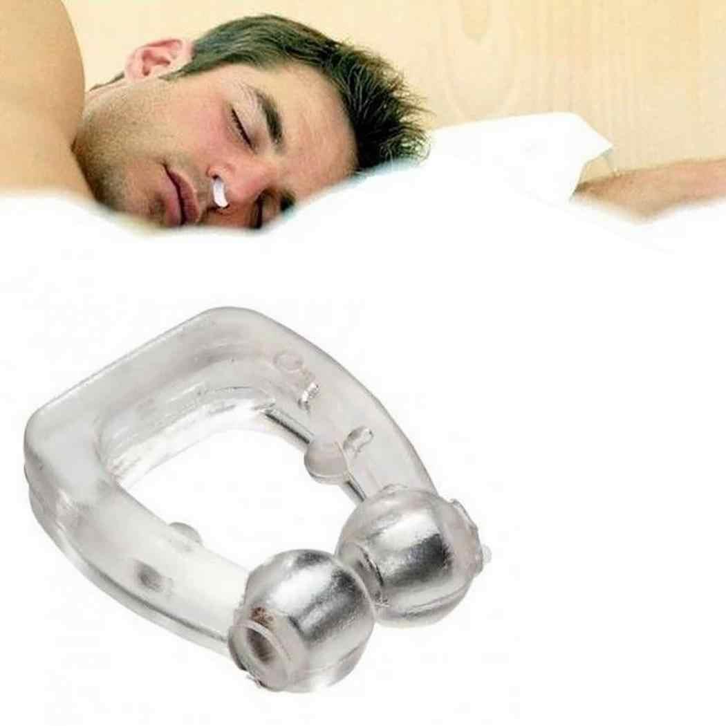 أداة منع الشخير أثناء النوم مزودة بمشبك من السيليكون ومضادة للشخير والتنفس وتوقف الشخير أثناء التنفس جهاز مشبك لمنع الشخير