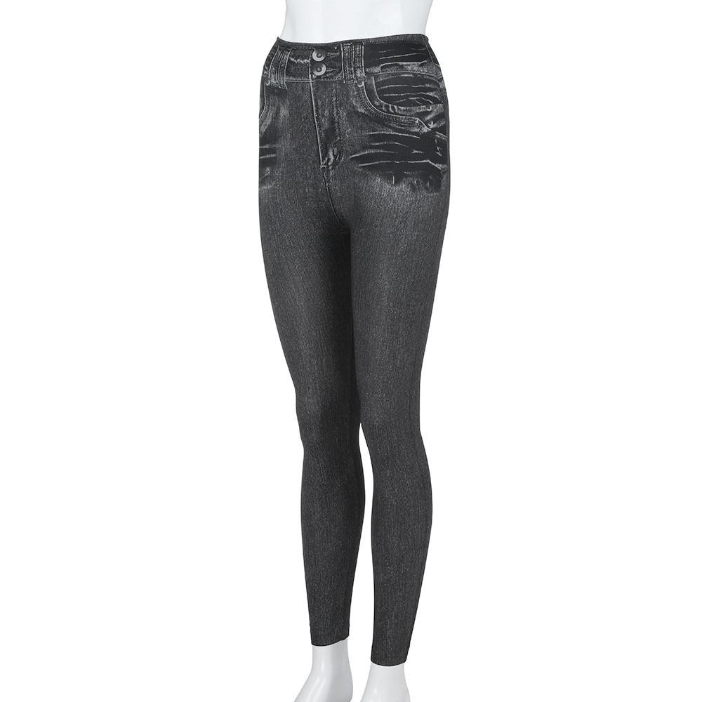 40 Women s Leggings Casual Sexy Girls Leggings Pure Black Denim Trousers Pocket Slim Leggings #40 Women's Leggings Casual Sexy Girls Leggings Pure Black Denim Trousers Pocket Slim Leggings Fitness Large Size Leggings Jeans