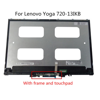 13.3 LCD LED touch screen assembly with bezel for Lenovo Yoga 720-13IKB 720-13 5D10N2429 5D10N24290 5D10K81089 image
