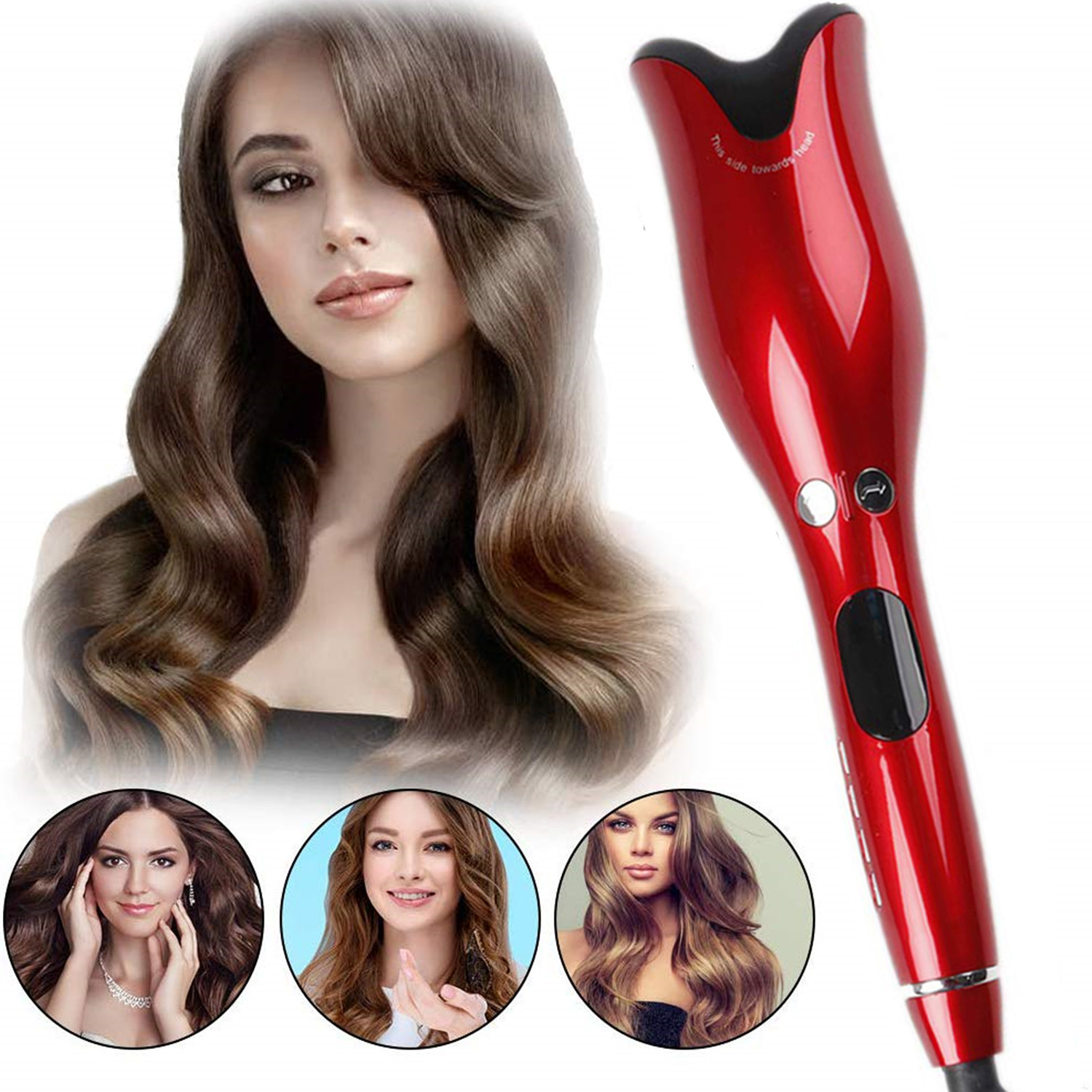Hair Curler Automatic Air Spin & N Curl Rotating Hair Curler Roller Ceramic Negative Ionic Hair Curling Iron Salon Styling Tool(China)