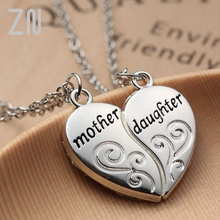 ZN Popular Mother and Daughter Heart necklace women Love