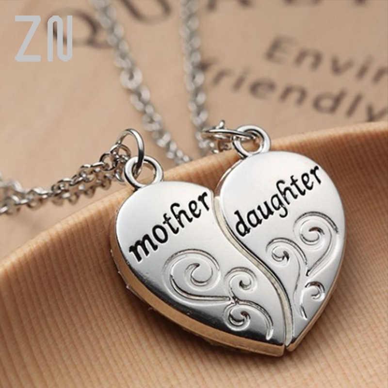 """ZN popularna matka i córka naszyjnik w kształcie serca kobiety kochają """"mama"""" naszyjnik dzień matki prezenty dla matki"""