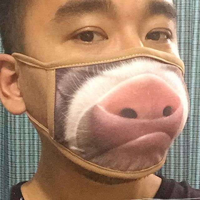 1/5/10Pcs Cartoon Cotton Dust-proof Breathable Anti Haze Protective Face Mask Anti flu Anti Virus Mask 4