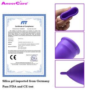 Image 5 - 50 개/몫 도매 재사용 가능한 레이디 컵 실리콘 여자 쿠페 menstruelle copo 월경 실리콘 컵 여성 위생 제품