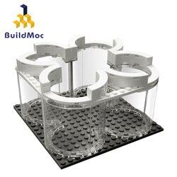 MOC Aerospace Apollos 11 Saturn V Display Stand  Rocket Launch Space Spacecraft City Building Blocks Classic Model Bricks Kits
