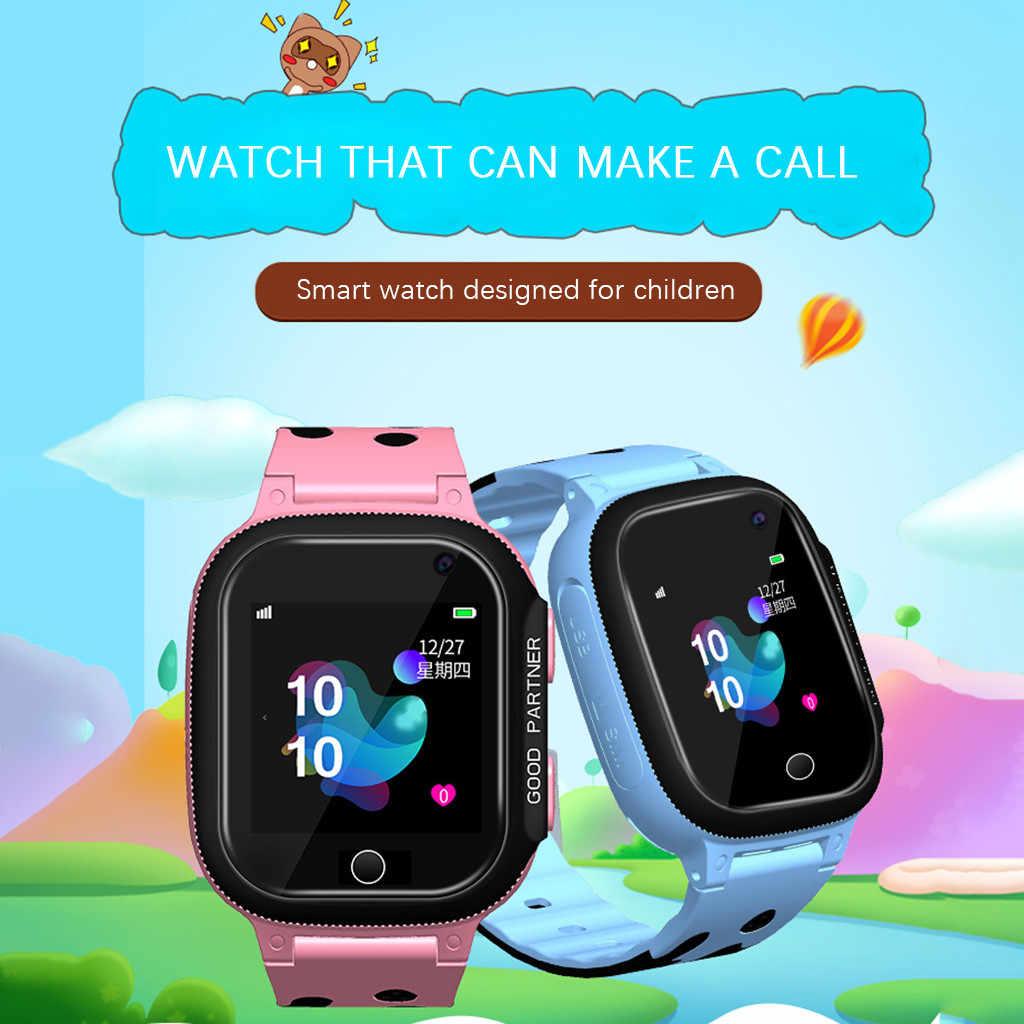 Dzieci GPS Smartwatch1.44 calowy Anti-lost inteligentny zegarek dla dzieci dziewczyny chłopcy Smartwatch zegarki telefon 2G SIM TF Card Fitness