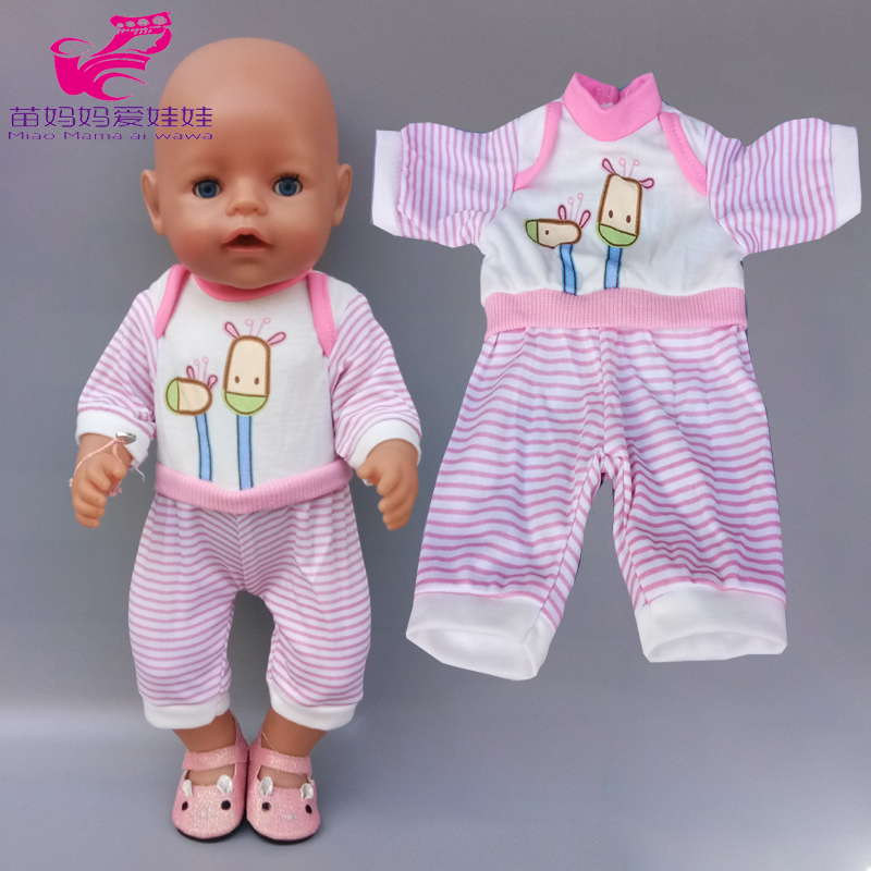 17 Inch Baby New Born Doll Clothes For 40cm 38cm Doll Clothes Children Girl Toys Wears Kids Gift