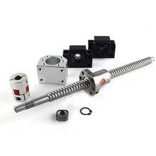 CNC ball screw nut 20mm SFU2005 screw 1300mm/1350mm/1400mmBKBF15 end machining + ball screw nut 2005 + supporter + coupling цена 2017