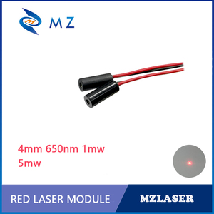 Высококачественный красный лазерный модуль класса II, 4 мм, 635 нм, 1 мВт, 5 мВт, Промышленный лазерный модуль APC, красная лазерная указка