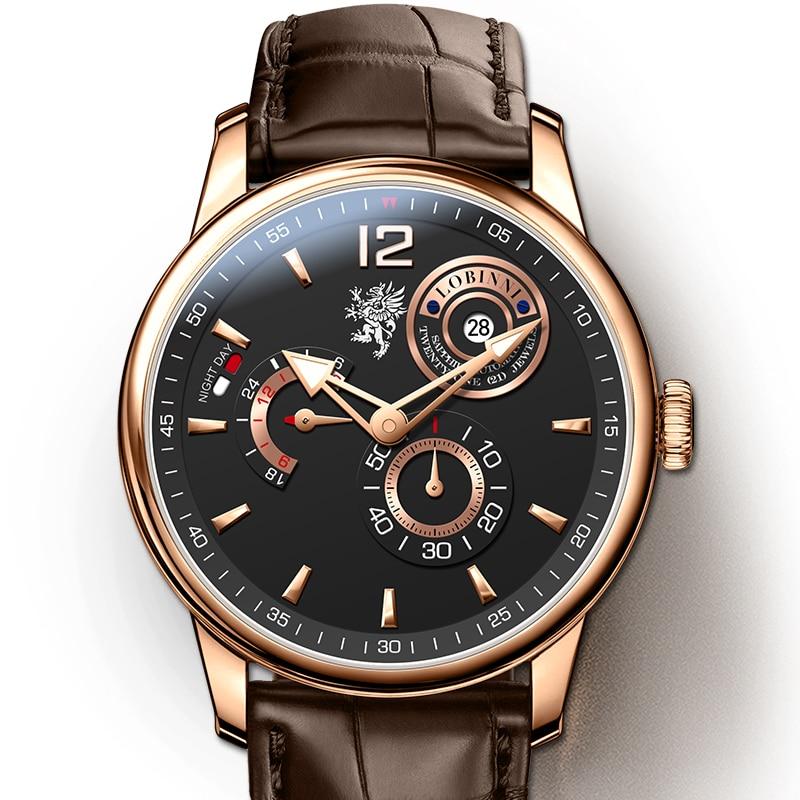 LOBINNI Horloges Mannen часы мужские механические Montre Homme Zegarek Men Mechanical Watch Relógio Japan Movement 시계 ساعات