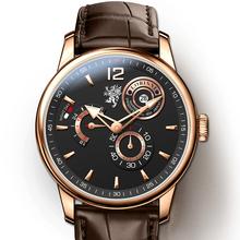 LOBINNI zegarki męskie zegarki męskie zegarki męskie zegarki męskie zegarek mechaniczny zegarek męski zegarek mechaniczny tanie tanio 5Bar Moda casual Automatyczne self-wiatr Przycisk ukryte zapięcie 22cm Ze stali nierdzewnej 13mm Stoper Odporny na wstrząsy