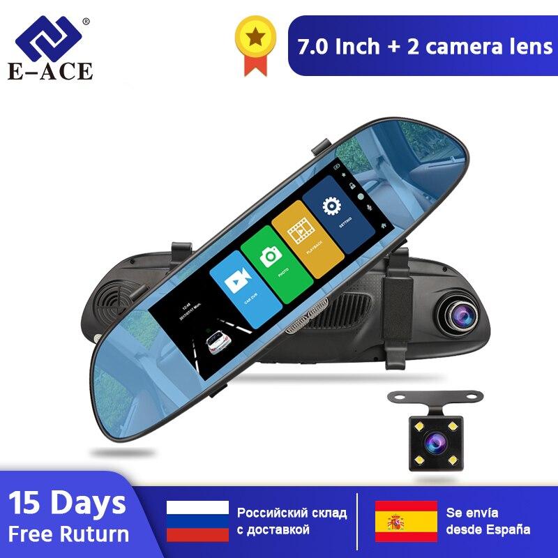 E-ACE A01/A13 Car DVR Dashcam FHD 1080P Dvr Mirror Video Recorder Car Camera with Rear View Camera Auto Registrar Dvrs Dash Cam