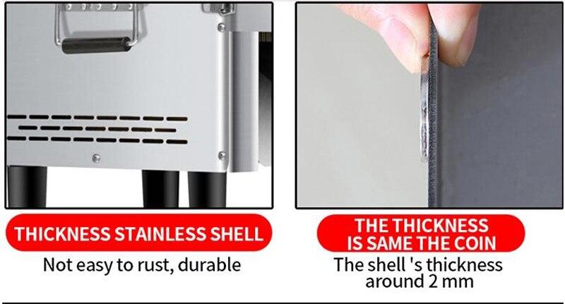 Настольный нож для резки мяса из нержавеющей стали, коммерческая машина для резки мяса 850 Вт