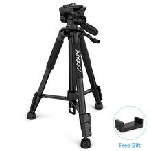 캐논 니콘 소니 SLR DSLR 디지털 카메라 삼각대 전화 클램프 PK q111에 대한 Andoer TTT 663N 여행 삼각대 전문 카메라 삼각대