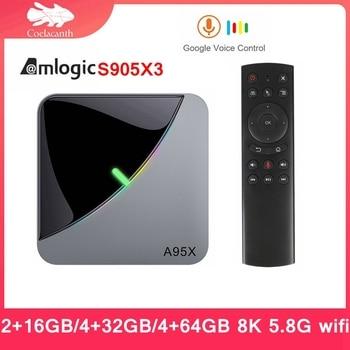 A95X F3 Air TV box Android 9.0 TV BOX Amlogic S905X3 8K Smart  Set Top Box Google Voice Assistant Wifi 4.2BT 8K