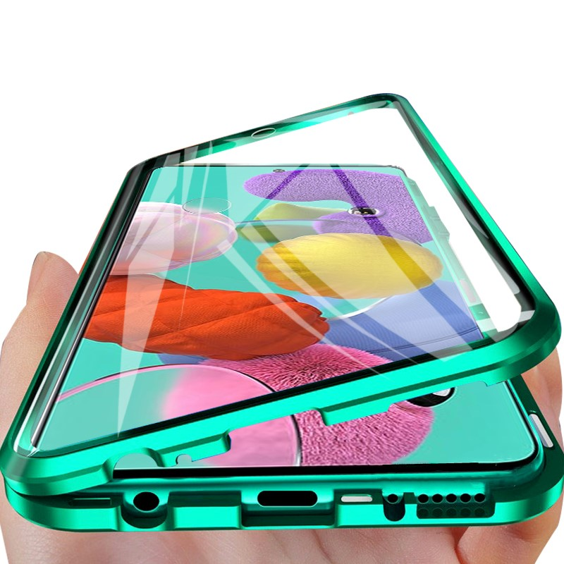Double Sided Tempered Glass Case for Xiaomi Redmi Note 8 7 K20 Pro Mi CC9 E A3 Lite 9T Pro Metal Magnetic Adsorption Full Cover(China)