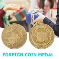 Moneda sin moneda con diseño de elfo, moneda dorada chapada en oro, moneda conmemorativa de doble cara, regalo para niños, decoración