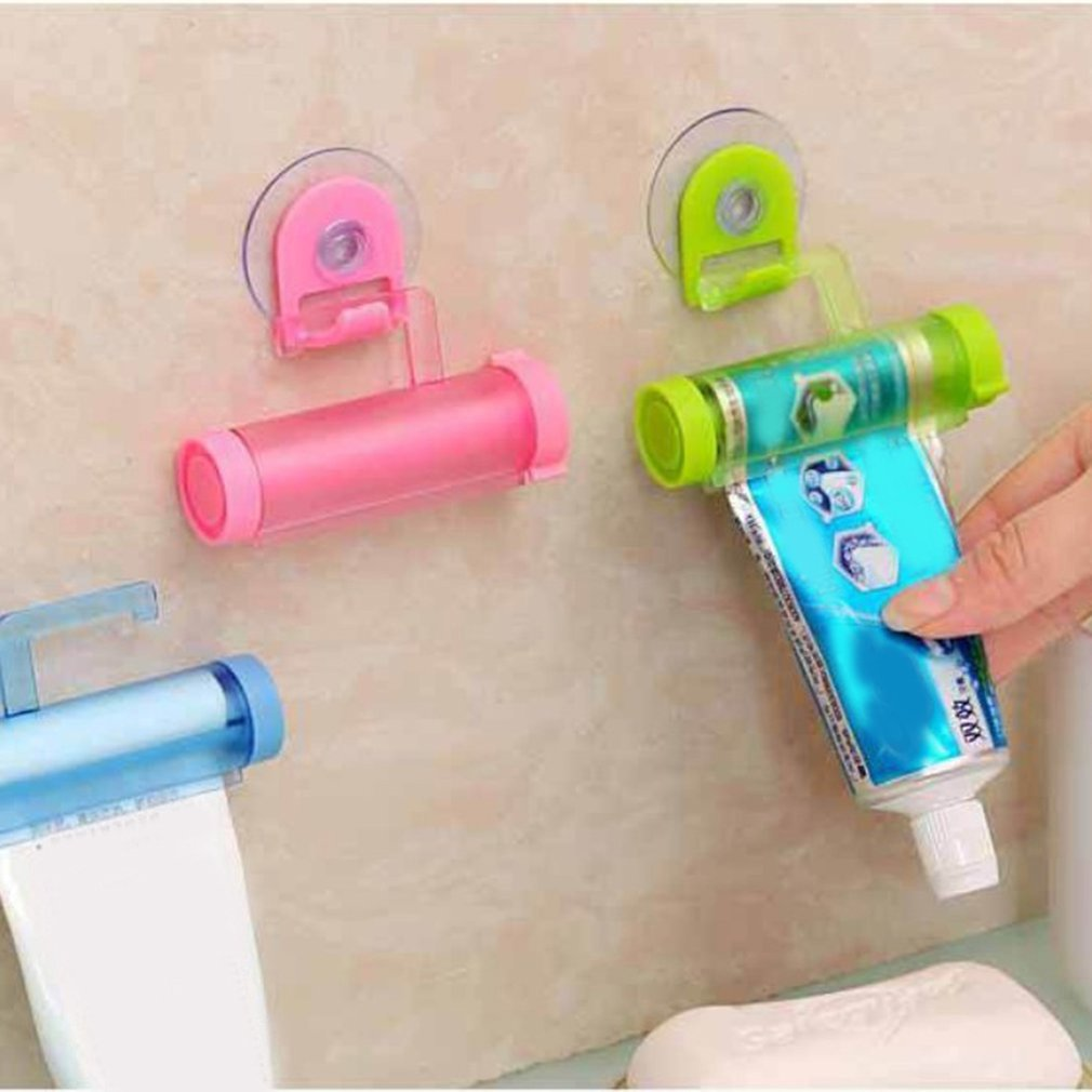 Easy Squeezer Toothpaste Roller Tube Rack Dispenser Rolling Holder Easy Squeeze Paste Dispenser Roll Holder Hanging