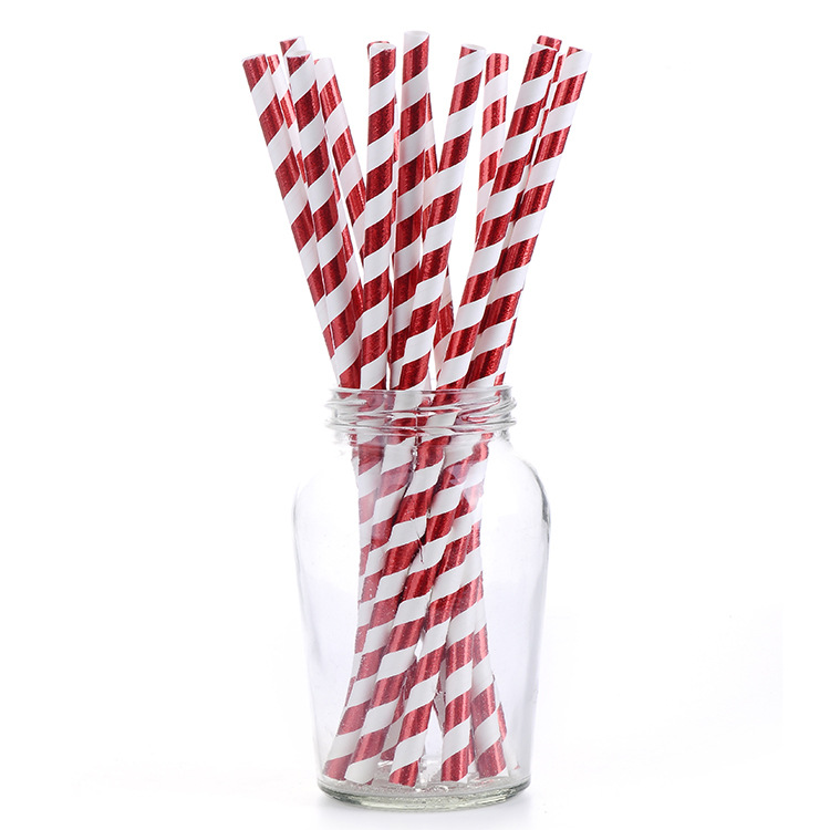 2019 New Style Fashion Hot Sales Disposable Straws Dessert Table Decoration Props Straw Party Paper Straw