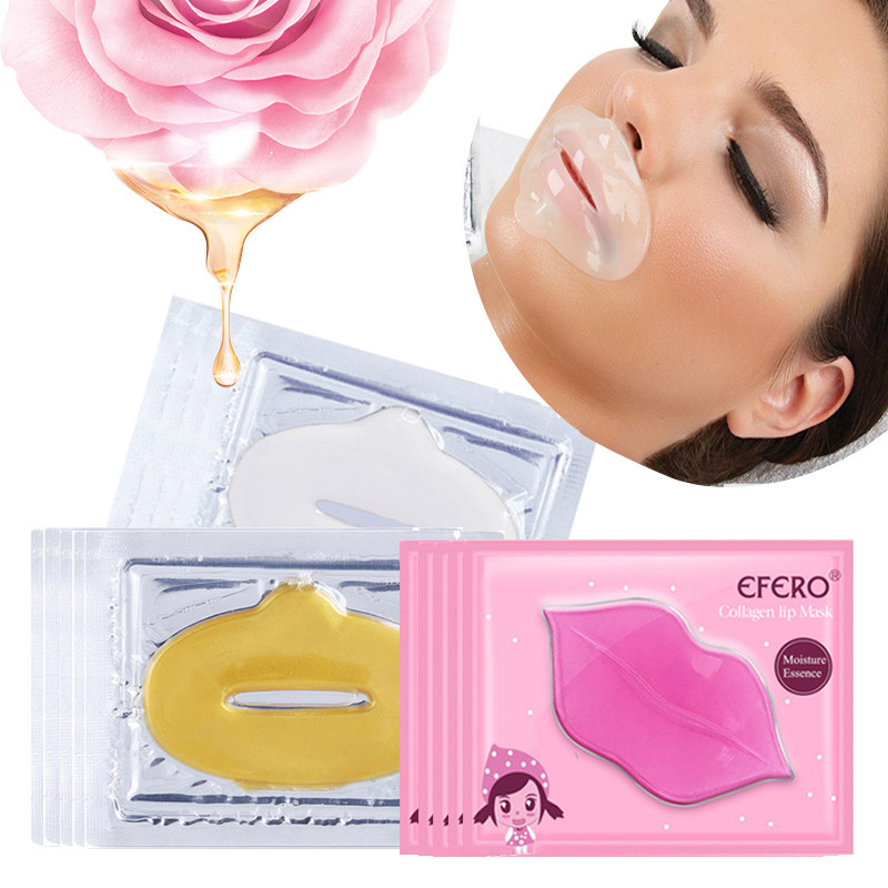 Crystal Collagen Lip Mask Lip Plumper Hydrating Lip Mask Moisturizing Essence Anti-Wrinkle Lips Patches Enhancer Pads Skin Care