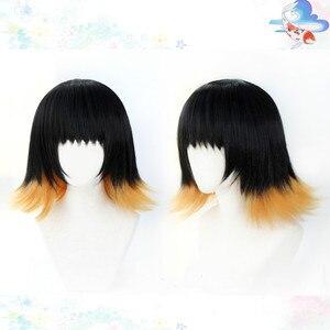 Image 2 - Susamaru demon slayer kimetsu nenhuma peruca yaiba cosplay traje resistente ao calor do cabelo sintético + tampão peruca livre