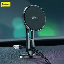 цена на Baseus magnet car holder 360 degree rotating car mount magnetic car phone holder universal mobile phone stand with 3M stickers