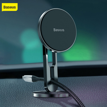 Baseus magnet car holder 360 degree rotating car mount magnetic car phone holder universal mobile phone stand with 3M stickers