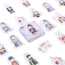 30packs/lot Pattern Magic Rabbit Scrapbook Stickers Stationery Diary Stickers DIY Album Gift Material Stickers In A Notebook