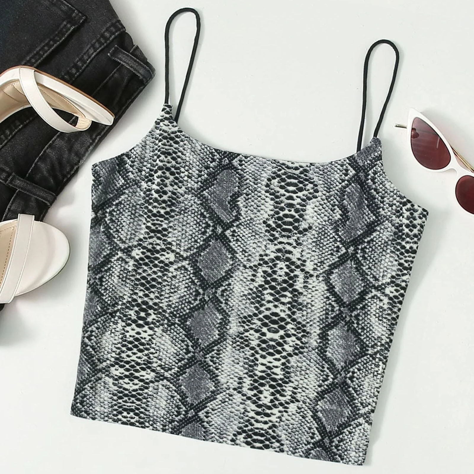 Backless Tops Crop-Top Print Sexy Leopard Women Short Bandage Party-Vest Cross-Tanks